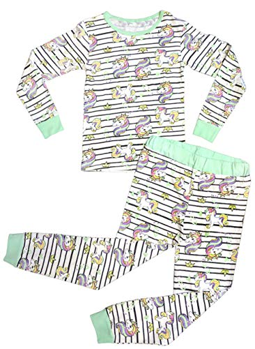 Best Unicorn Snug Fit 12 Month Girl Pajamas Pony Striped Footless Soft Cotton Cozy Comfortable New Jammies PJ Set for 9-12 Month Baby Infant Kids (Unicorn 12 Month)