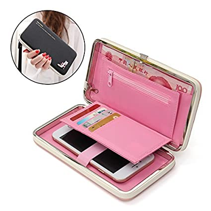 Phone Clutch Purse, Charminer Multi Purpose Long Style Leather Phone Wallet  Case Handbag Diamond