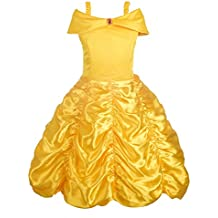 Dressy Daisy Girls' Princess Belle Costumes Princess Dress Up Halloween Costume