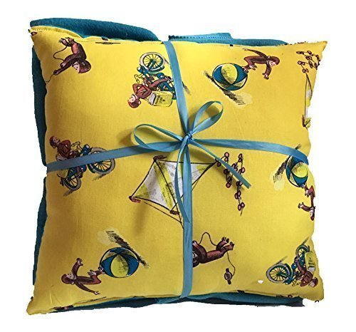 Curious George Pillow And Blanket Classic Yellow George Pillow and Blanket HANDMADE In USA Pillow Set