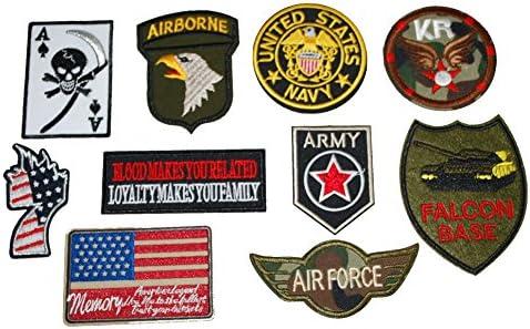 [スポンサー プロダクト]厳選 US アーミー ARMY 軍物 NEWアイロンワッペン 10枚セット