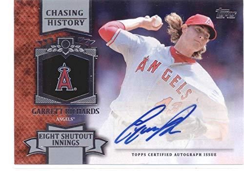 2013 Topps Update Chasing History Autographs #CHA-GR Garrett Richards Angels MLB Baseball Card (Autographed) NM-MT