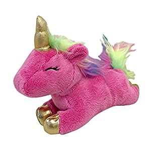 """FOUFIT 85601 Unicorn Plush Toy for Dogs, Pink, 6"""""""