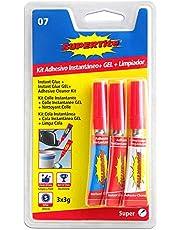 Supertite 2507 - Kit adhesivo instantáneo gel y limpiador