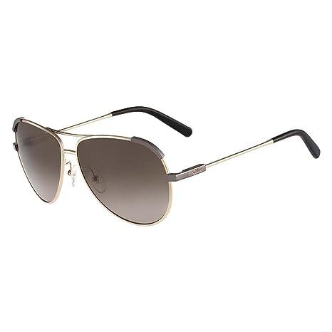 f53dc9685f6c Chloe Eria Aviator Sunglasses in Light Gold Khaki CE118S 754 60 60 Brown  Gradient  Amazon.ca  Luggage   Bags
