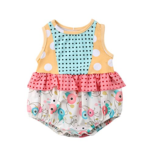 - Little Sister Big Sister Matching Outfit Baby Floral Romper Bodysuit Girls Dress Pants Clothes Set (Little Sister, 0-6 M)