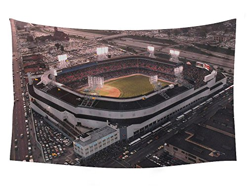 PUPBEAMO PRINTS Old Tigers Stadium, Detroit, Mi - Wall Tapestry Art For Home Decor Wall Hanging Tapestry 60x40 Inches (Old Tiger Stadium Detroit)