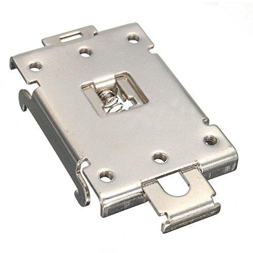 Price comparison product image TOOGOO(R) DIN Rail Mount Bracket Equipment Rack G3NE G3NA Electrical for SSR R99-12 Fins