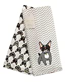 French Bulldog ''Frenchie'' with Eyeglasses Set of 2 Kitchen Towels | 100% Cotton