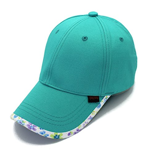 Ruanyi Spring sun shade pure cotton parent baseball hat sunscreen leisure sports girl boy outdoor hat gorras mujer plisada visera (Color : Green)