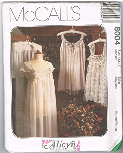 McCall's 8004 Misses Nightwear Alicyn Exclusives - Exclusive Nightgown