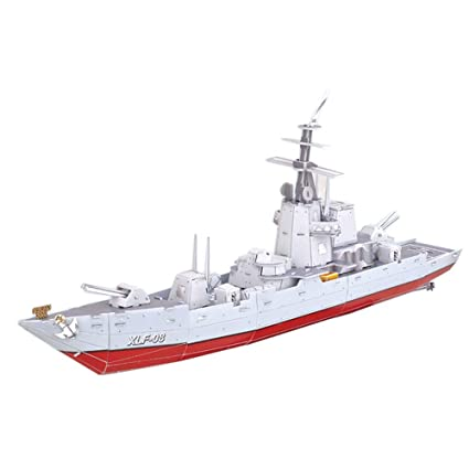 Amazon com: Magic Puzzle 3D Paper Model DIY Toy Military