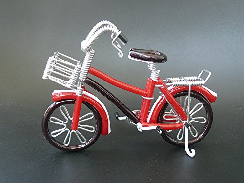 Unique Metal Crafts Gift Art Road CUTE Vintage Bike Model Birthday Christmas Tree Ornaments Decorations Decor Bicycle Cake topper Toys Artwork for Men/women/boys/girls/kids/cyclists/party supplies by HTCARE USA