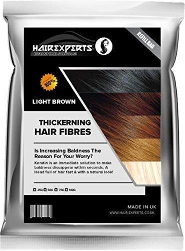 Hair ExpertsTM Thickening Hair Fiber Fibre Refill (Hair Loss & Thinning Solution) (50 Grams, Medium Brown) by Hair Experts
