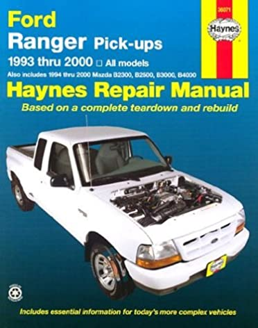 ford ranger mazda b series pick ups automotive repair manual all rh amazon com 2000 Mazda B2500 Parts 2000 Mazda B2500 Parts