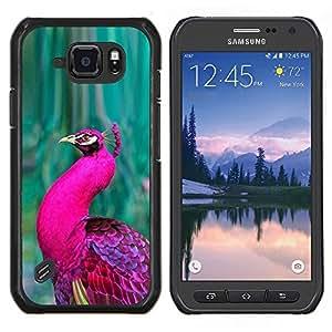Stuss Case / Funda Carcasa protectora - Vert Vibrant Violet Feather - Samsung Galaxy S6Active Active G890A