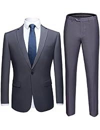 Men's Suit One Button Slim Fit 2 Piece Suit for Men Casual/Formal/Wedding Party/Tuxedo