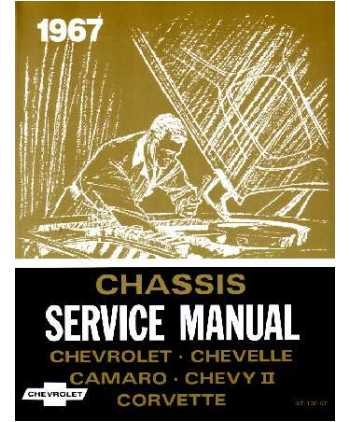 1967 CAMARO CHEVELLE CHEVY II CORVETTE Service Manual