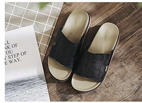 summer cool Slippers summer shoes Black and beach XZ fashion tide muffins LIUXINDA women's seaside slippers Summer xX1qXwz