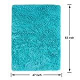 PAGISOFE Soft Fluffy Blue Area Rugs for Bedroom