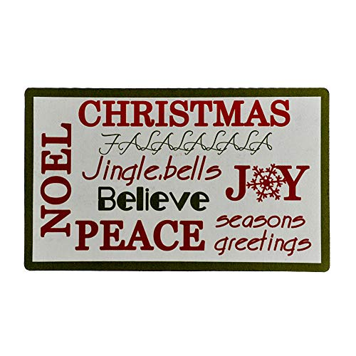 Christmas Doormat Indoor Entry Way Door Mat for Front Door Patio Anti Slip Rubber Entrance Door Mats Seasons Greeting Xmas Holiday Decor (Christmas Greeting)