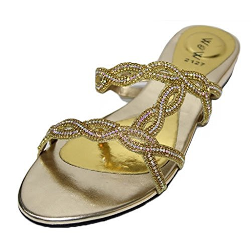 gold Walk amp; turquoise Or Sandales green femme silver Wear pour UK doré wY1SnqWq
