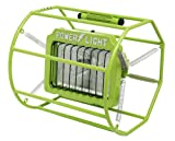 Woods L113 Industrial Impact-Resistant Untippable-Spring Mounted Portable Halogen Work Light, Green, 500-Watt