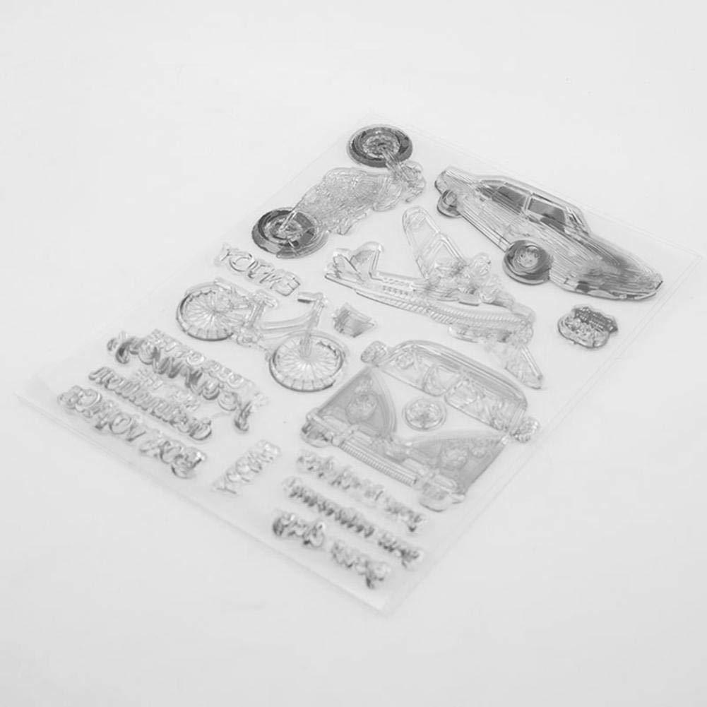 Demiawaking Tampons pour Scrapbooking Album de Photos de Bricolage Scrapbooking Cartes Transparents de Lettre de Voiture D/égagent DIY Cr/éatif Silicone Dies Timbres
