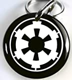 Pet ID Tags Dog Tags Star Wars Imperial Black White (Small 1'')