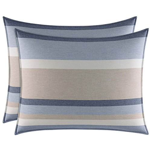 Nautica Abbott Comforter Set, King, Medium Blue chic