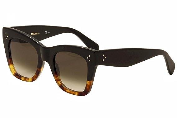 02980c54289 Celine Sunglasses CL 41090 S Sunglasses FU5Z3 Black Havana 50mm at ...