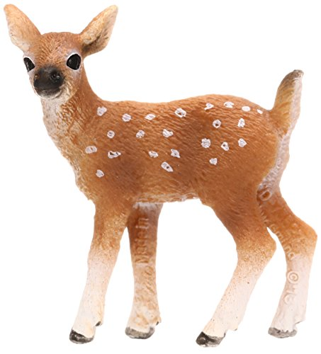 Schleich White-Tailed Fawn Toy Figure (Miniature Reindeer)