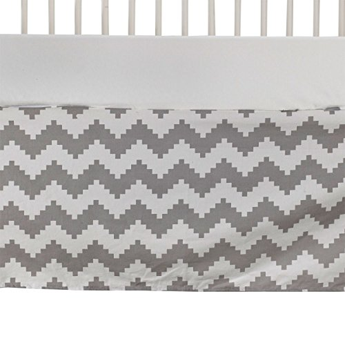 Lolli Living Naturi Crib Bed Skirt - Aztec Chevron (Chevron Girl Crib Bedding)