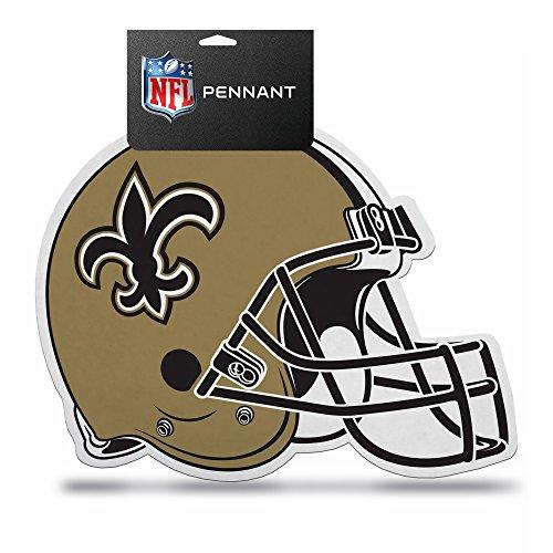 NFL Saints Die Cut Helmet with (Nfl Helmet Decals)