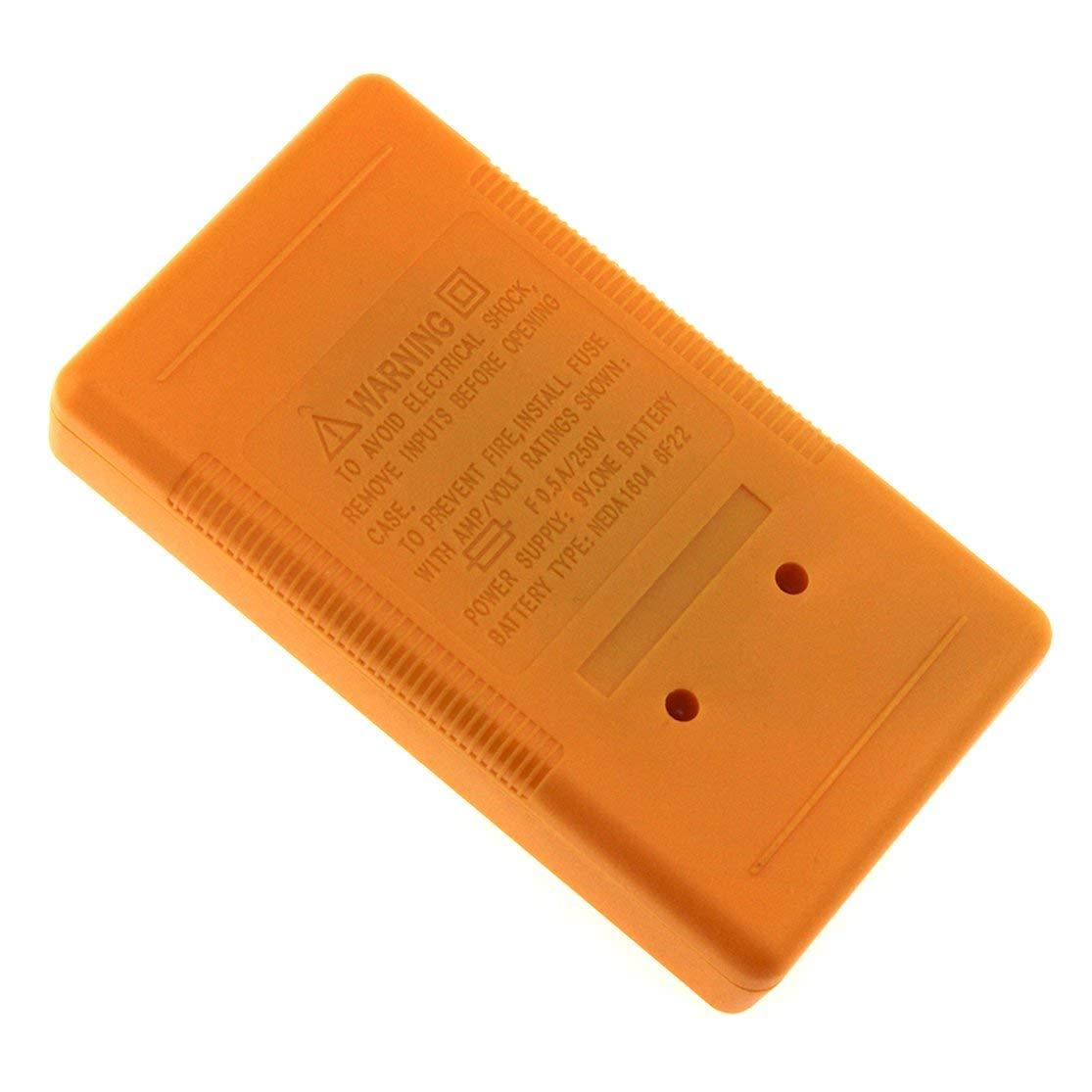 Kaemma DT-830B Mini Pocket Digital Multimeter 1999 Counts AC//DC Volt Amp Ohm Diode hFE Tester Ammeter Voltmeter Ohmmeter Color:Yellow