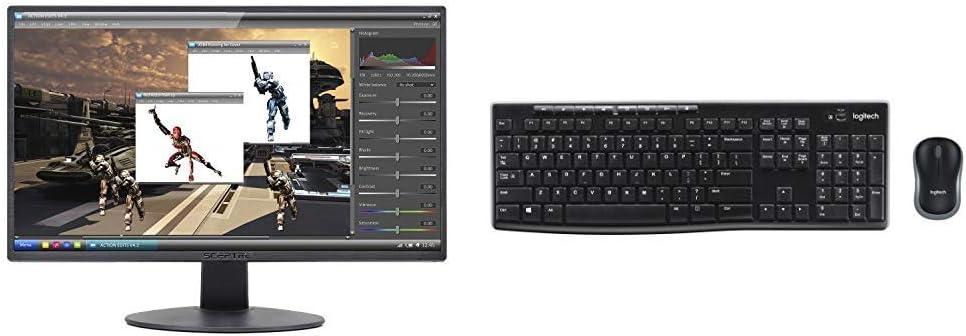 "Sceptre E205W-1600 20/"" 75Hz Ultra Thin LED Monitor HDMI DVI VGA Built-In Speaker"