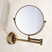 YAOHAOHAO Expandable makeup mirrors, bathroom wall make-up make-up mirrors fold in dressing telescopic double-sided enlarge