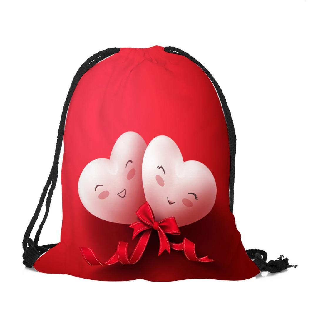 Happy Valentine's Day Drawstring Bag,Outsta Unisex Sack Sport Gym Travel Outdoor Backpack Messenger Bags Hanging bags Beach Travel Packet (A)