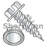 Slotted Ind Hex Washer Serrated 1/4'' Across The Flats F/T Self Piercing Needle Zinc 8-15 x 3/8 (Box of 10000) weight26Lbs