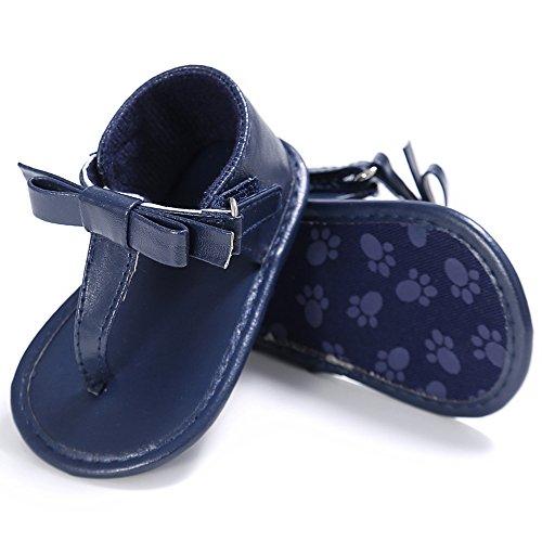 ESTAMICO Baby Mädchen Sommer Flip Flops Kleinkind Sandalen Marine