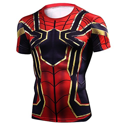 Iron Spider Man Infinity War Avengers Superhero Round Neck T Shirt Men T Shirts  Xxl