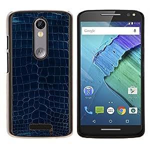 "Be-Star Único Patrón Plástico Duro Fundas Cover Cubre Hard Case Cover Para Motorola Droid Turbo 2 / Moto X Force ( Patrón Diseño Turquesa Azul Textura Arte"" )"