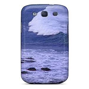 High Quality Shock Absorbing Case For Galaxy S3-beautiful Wave Coming Ashore