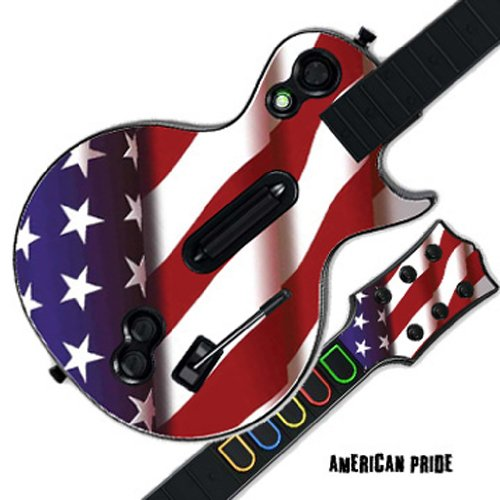 - MightySkins Protective Skin Decal Cover Sticker for GUITAR HERO 3 III PS3 Xbox 360 Les Paul - American Pride
