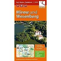 Rad-, Wander- und Paddelkarte Mirow und Wesenberg: Maßstab 1:50.000, GPS geeignet, Touren-Tipps auf der Rückseite
