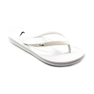 Nike Womens Solarsoft Thong II Sandal White/Pure Platinum/Black 10