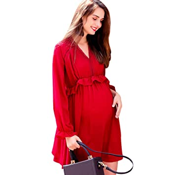 nouveau produit nouvelle arrivee vente énorme Robes Vêtements de maternité Printemps et Automne midi Jupe ...