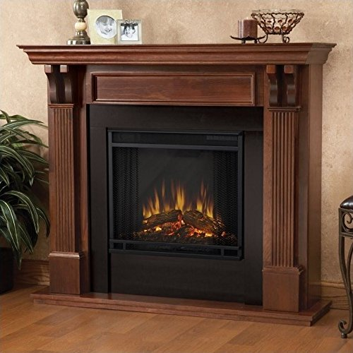 Real Flame 7100E Ashley Electric Fireplace, Medium, Mahogany - Mahogany Fireplace Mantel