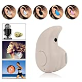 Efanr Sports Invisible in Ear Smallest Mini Bluetooth 4.0 Headset with Hands-free Calling Stereo - Beige