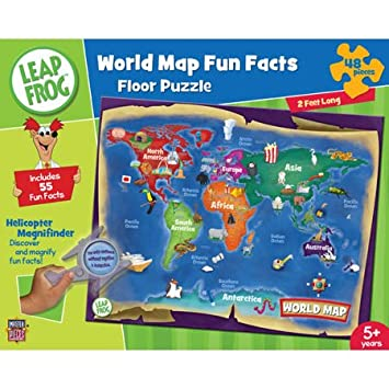 Amazon leapfrog world map fun facts 48pc floor puzzle toys leapfrog world map fun facts 48pc floor puzzle gumiabroncs